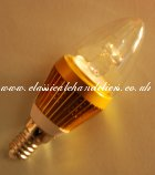 LED Candle Bulb 3W SES-Gold