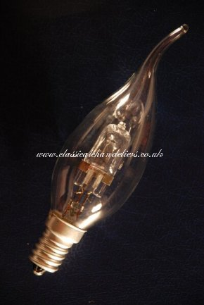 Halogen Candle Flame Bulb 28W- SES