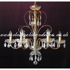 6 Metal Arm DC54160-6-PT Chandelier