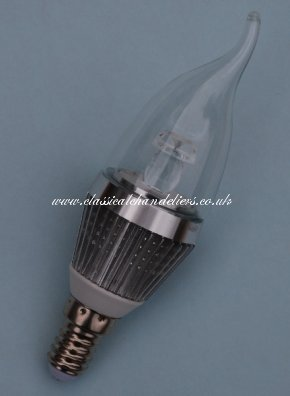 Dimmable LED Candle Bulb 3W SES-Silver