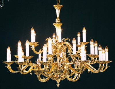 Ornate Brass  Chandelier