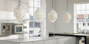 Crystal-White-Pendant-Lights-Kitchen-Above-Island-Counter-In-White-Modern-Kitchen