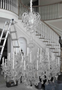 chandelier installations