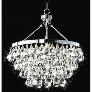 Sparkling Crystal Chandeliers featuring Chrome Finish